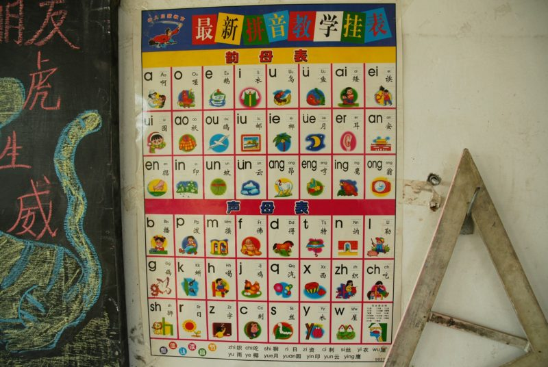 中国の小学校の漢字